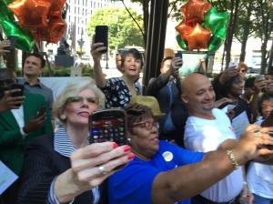 Post the Peach members taking selfie
